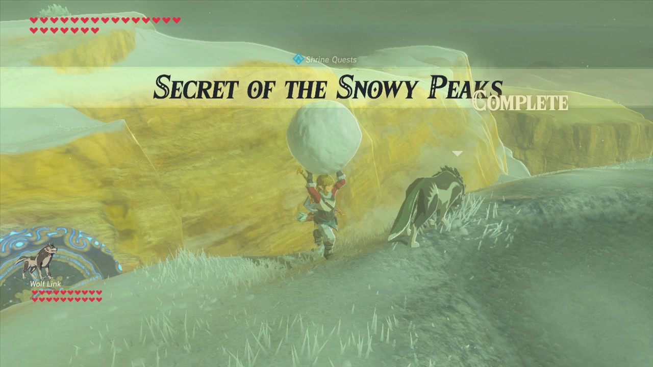 Botw Secret Of The Snowy Peaks Shrine Youtube G tells you to find larger samples of the elements found on the fur so he can use them to calibrate his special goggles. botw secret of the snowy peaks shrine