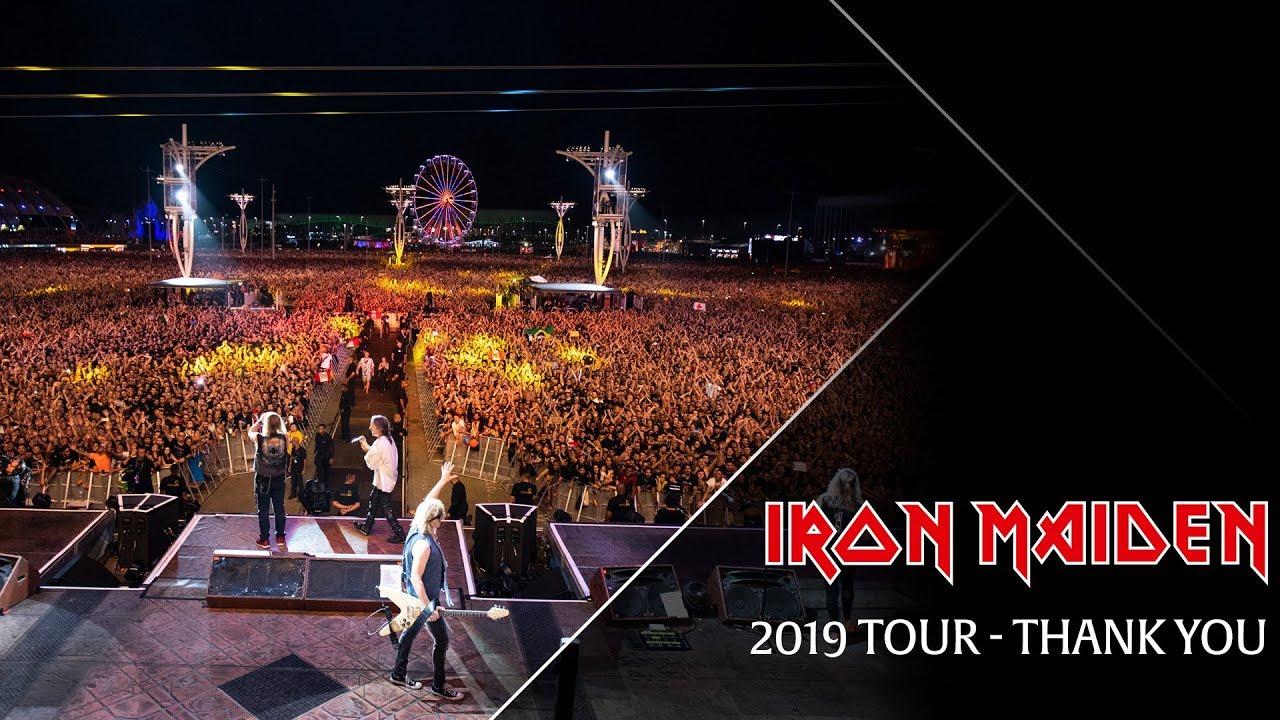 Resultado de imagem para Iron Maiden thank you 2019