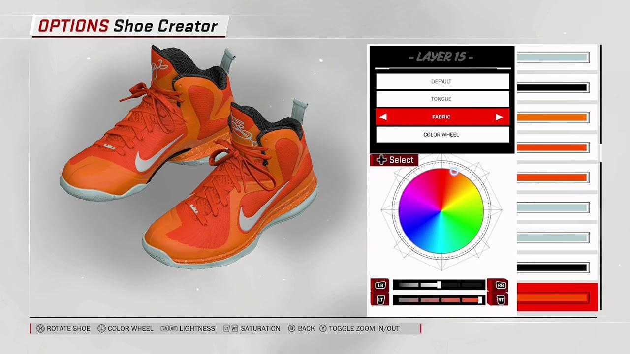 sports shoes c3c99 6f06e NBA 2K18 Shoe Creator - Nike LeBron 9