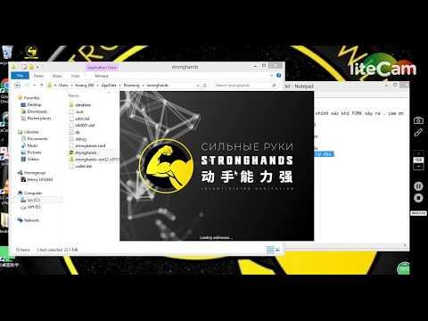 huong dan update vi SHND stronghands coin len 151 cho hardfork stronghandsvietnam