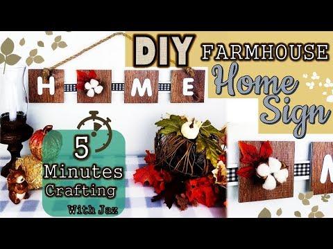 5 MINUTES CRAFTING No. 3 | HOME SIGN | FARMHOUSE FALL DECOR IDEAS