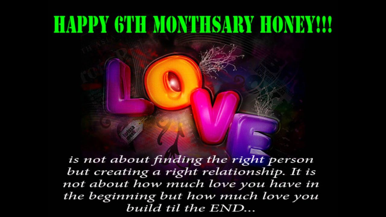 Happy six monthsary