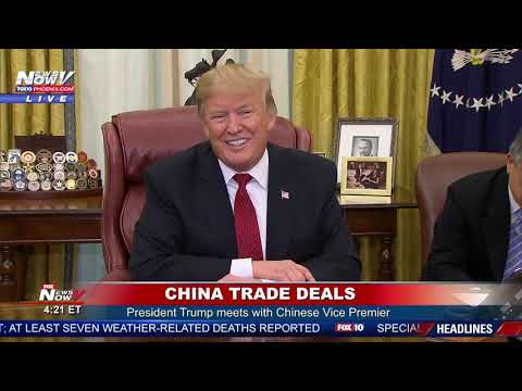 CHINA TRADE DEAL: President Trump Meets With China Vice Premier To Negotiate