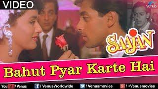 Bahut Pyar Karte Hain (Male) - Saajan (1991) HD