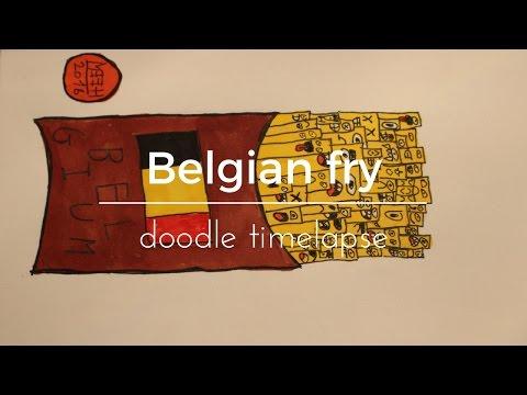 Belgian Fry doodle timelapse