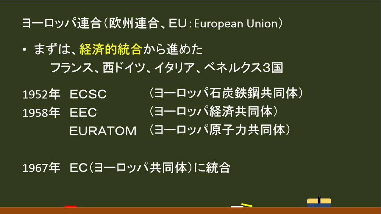 世界史・現代〕ヨーロッパ連合(...