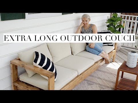 DIY Outdoor Couch Built From 2x4s | Restoration Hardware Knockoff
