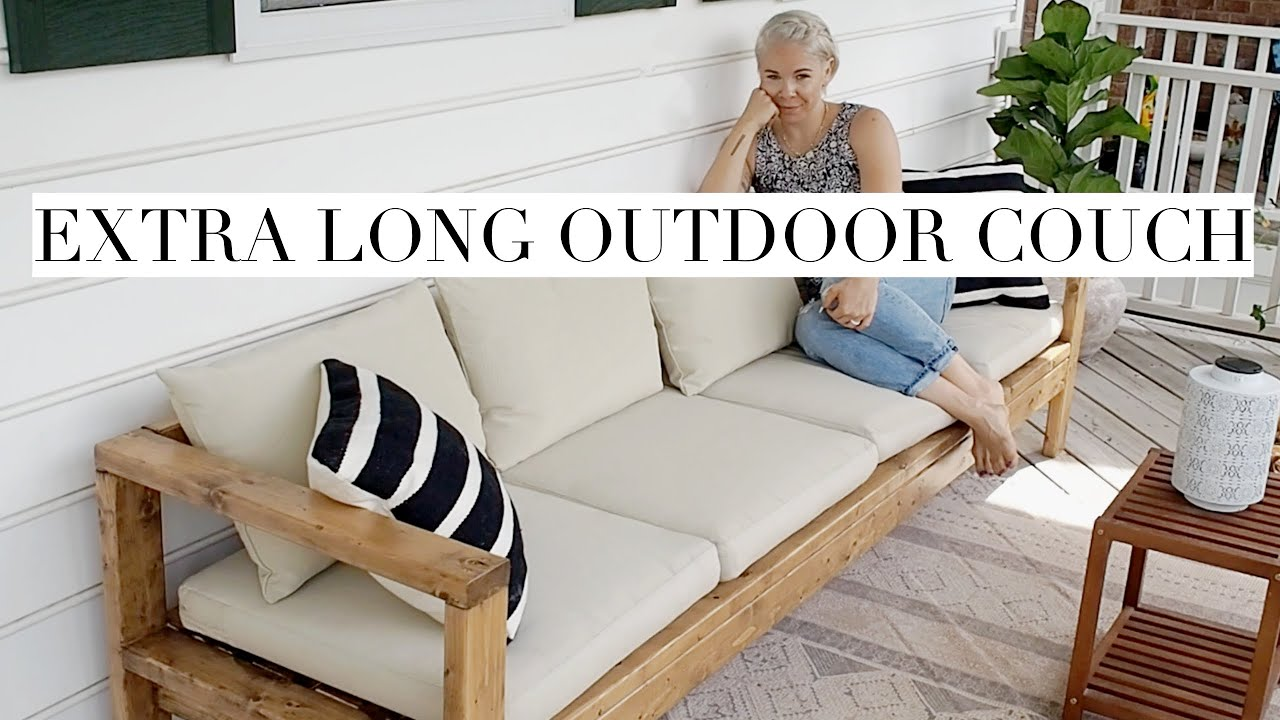 Diy Outdoor Couch Built From 2x4s