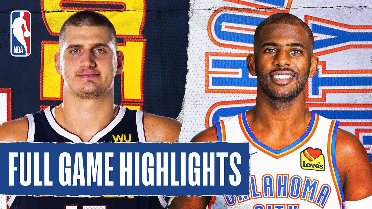 NUGGETS at THUNDER   FULL GAME HIGHLIGHTS   February 21, 2020