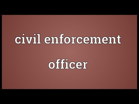 Civil enforcement officer Meaning