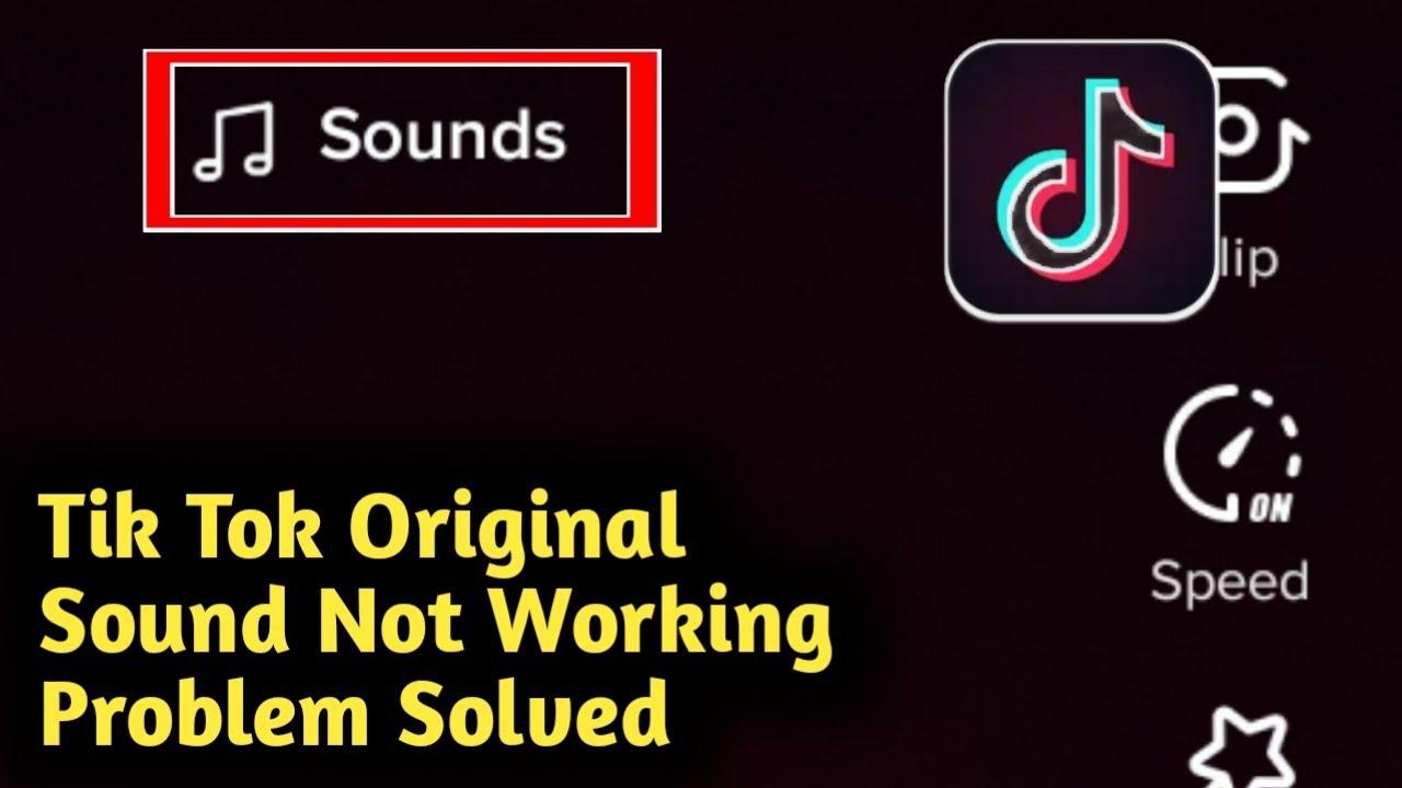 Tik Tok Original Sound Not Working Problem Solved Youtube