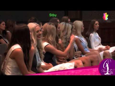 Miss Universe Australia 2015 Rehearsals
