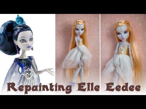 Repainting Elle Eedee Monster High doll