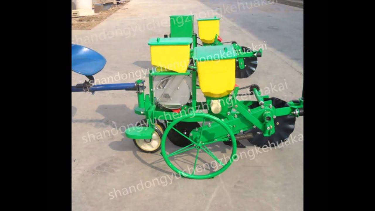 Walking Tractor Corn Planter Eltonhuang Hotmail Com Youtube