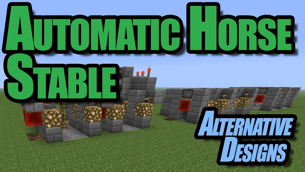 Minecraft - Automatic Horse Stable - Alternative Designs - YouTube for Minecraft Horse Stable Blueprint  545xkb