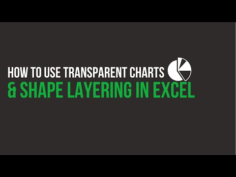 How to Use Transparent Charts and Shape Layering in Excel
