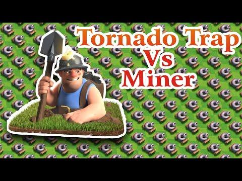 Tornado Traps Vs Miner | Fun With Tornado Trap