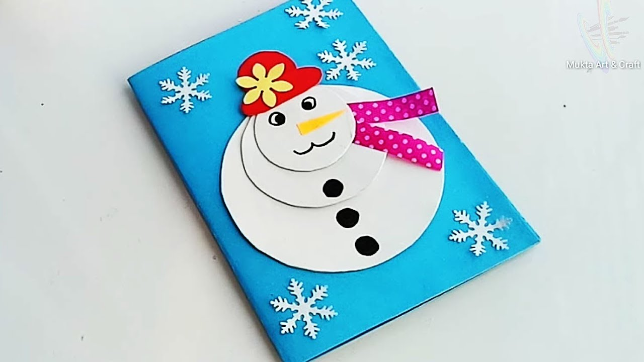 Diy Christmas Cards Handmade Christmas Greeting Cards For Kids Youtube