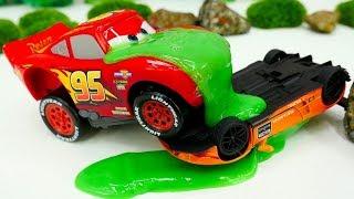 Lamborghini et Flash McQueen. Vidéo pour enfants de voitures de course streaming