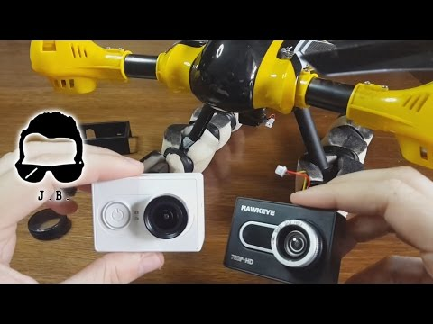 Drone Kaideng K70C - installare Xiaomi yi action cam + fix gimbal