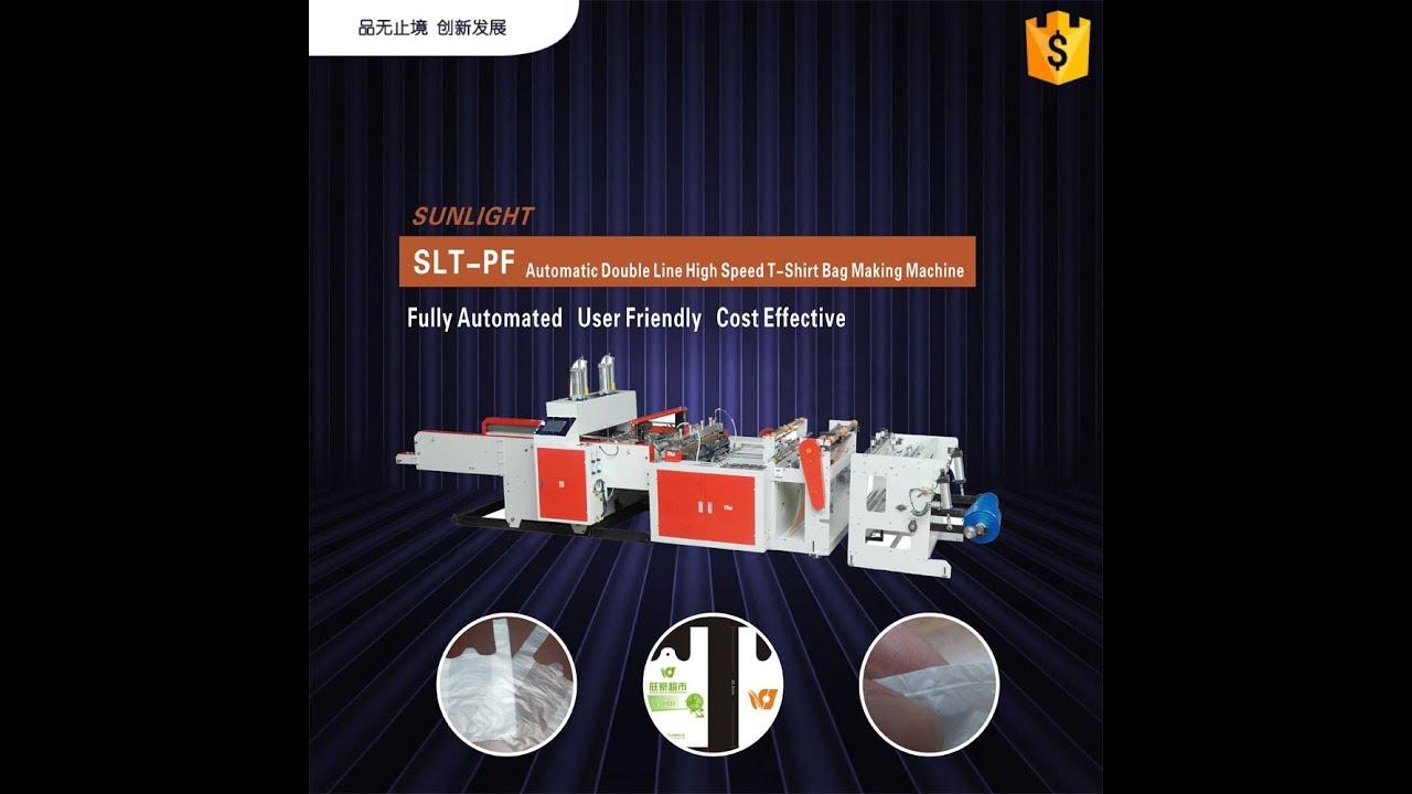 SLT-PF Automatic Double Line Heat Cutting Plastic T Shirt