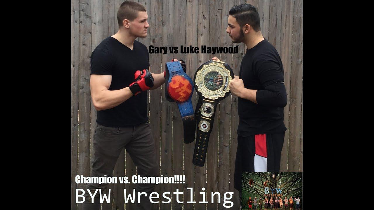 byw wrestling champion vs champion belt match gary vs luke