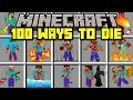 Minecraft 100 WAYS TO DIE MOD! | SURVIVE 100 DIFFERENT WAYS TO DIE! | Modded Mini-Game