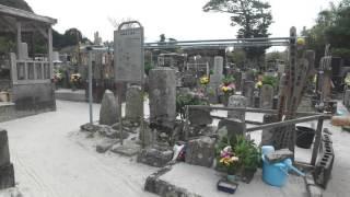 長栄寺のお墓と流人墓地