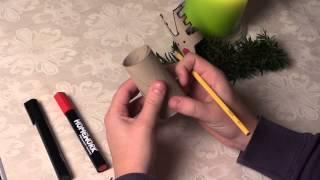 Sådan laver du et rensdyr af en toiletrulle