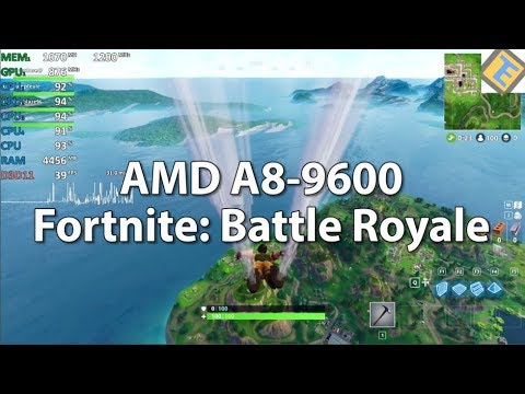 Fortnite Battle Royale Amd A8 9600 R7 Igpu Cpu 3 8ghz Gameplay Benchmark Test Youtube