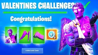 Fortnite FREE REWARDS Fallen Love Ranger Challenges (VALENTINES DAY SKIN) + Possible V Bucks Rewards