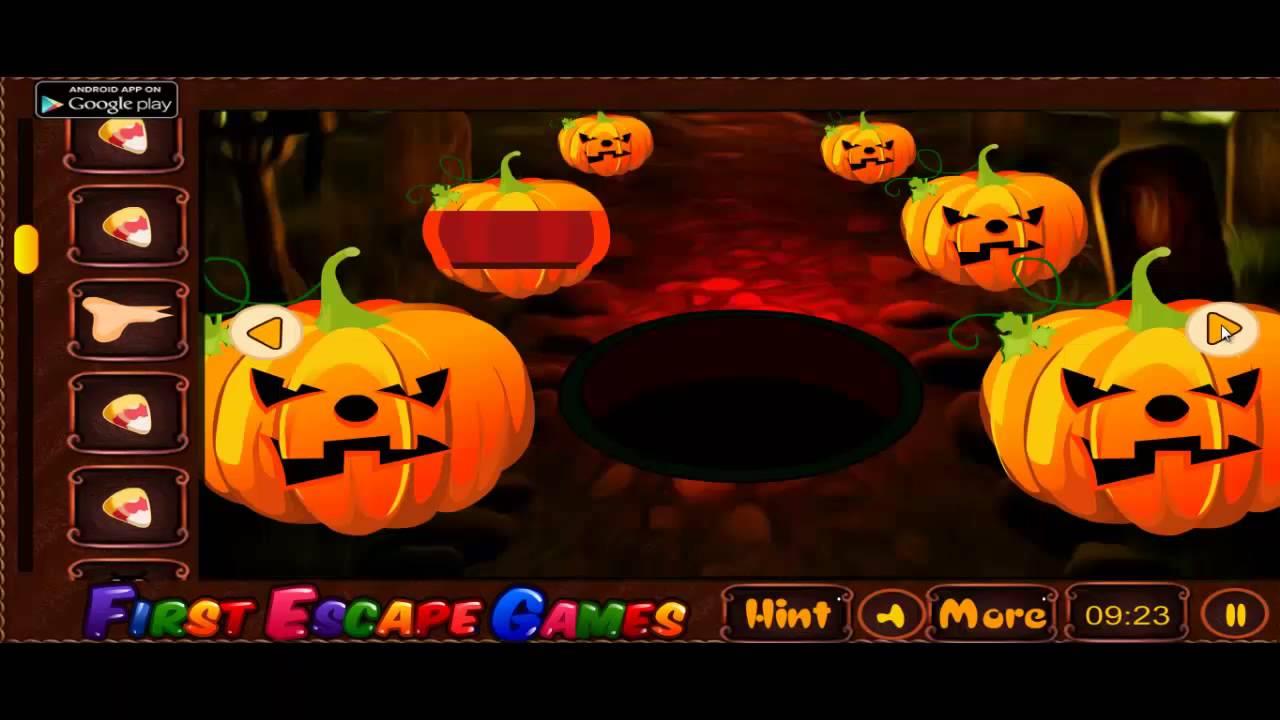 Creepy Halloween Graveyard Escape Walkthrough