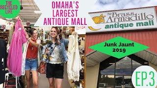 Brass Armadillo Antiques Nebraska Junk Jaunt - Vintage Shopping-The Recycled Life - Ep.3