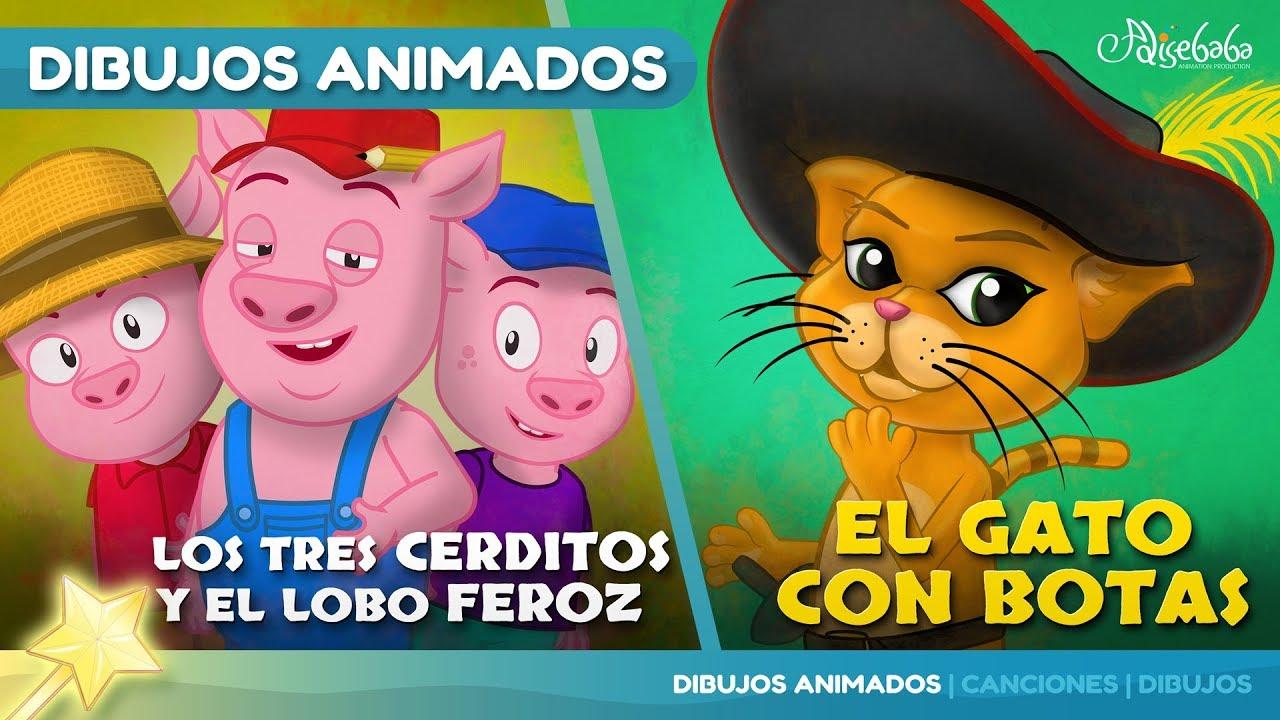 Los Tres Cerditos y El Lobo Feroz cuentos infantiles para dormir & animados