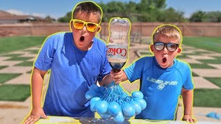 BEST COCA COLA & Mentos VS Balloons Experiments