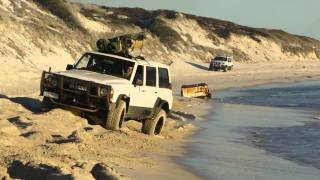 Jeep Grand Cherokee Beach Drifting with Nissan Patrol GQ