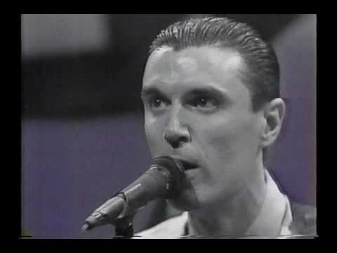 Talking Heads - Burning Down the House live and Interview -  Letterman 1983 (Higher Quality)