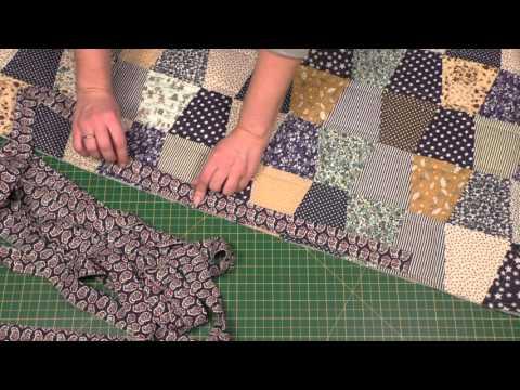 видео: Окантовка лоскутного одеяла. Пэчворк для начинающих
