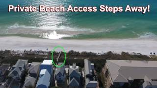 """30A Water's Edge Rentals Aerial Views of """"Avalon"""" Luxury South Side 30A Vacation Rental House"""