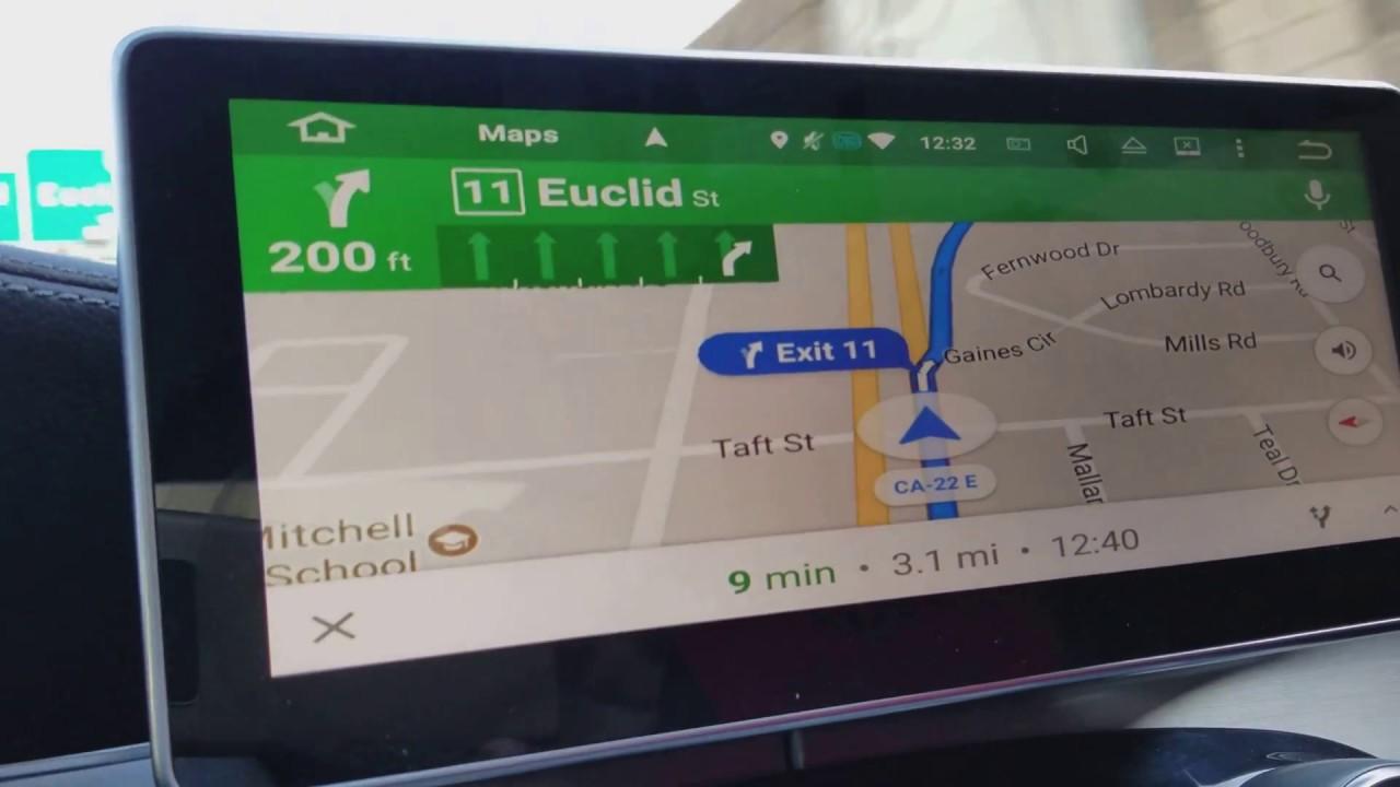 Using Google Map on 2015 Mercedes C300 W205