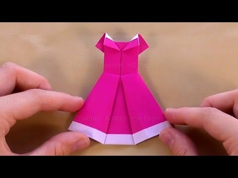 How to Make a Dress  Origami  YouTube