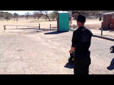 Eric McCabe Hucking In Tucson, AZ. Santa Cruz Course