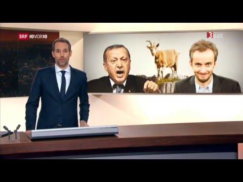Jan Böhmermann versus Erdogan Schmähkritik Schmähgedicht  (13.04.2016 10vor10)