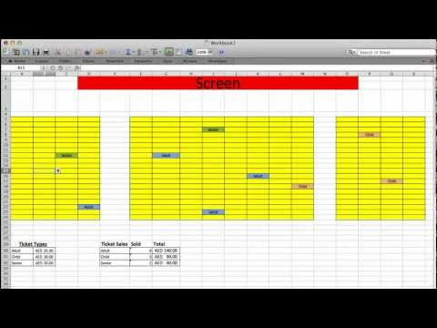 Movie Theater Ticket system with Excel