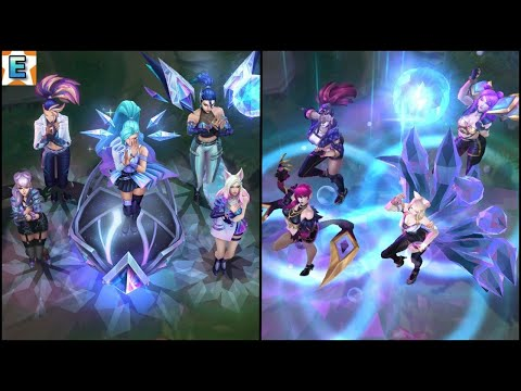 K/DA ALL OUT vs K/DA POP/STARS Music, Abilities in Game - League of Legends