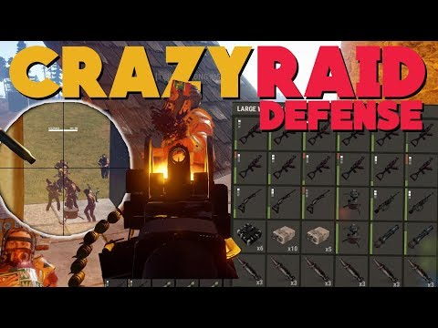 RUST | CRAZY VANILLA 3 VS 17 RAID DEFENSE! (18 Rocket Profit)