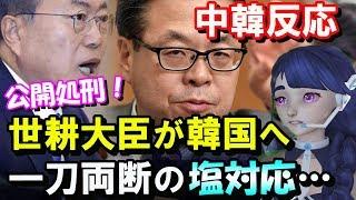【中国韓国の反応】日韓会合後の韓国の無法ぶりに世耕経済相が一刀両断の塩対応! thumbnail