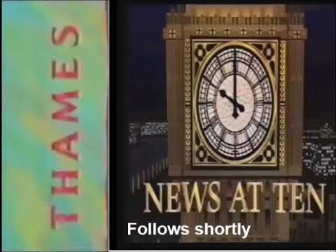 Thames Evening interval Junction into News At Ten (1st August 1989)