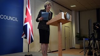 British PM May attends her last EU summit