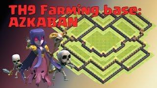 Clash of Clans: ULTIMATE TH9 Farming Base build: Azkaban!